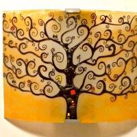 applique orange motif arbre de vie