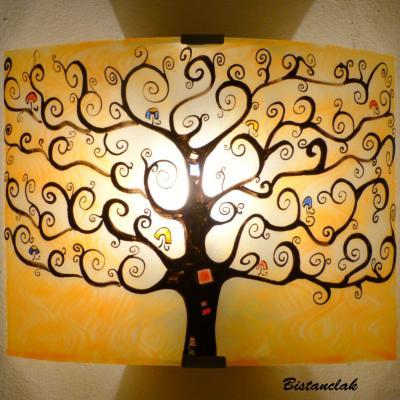Applique murale orange motif arbre de vie