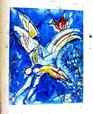 Peinture sur verre Chagall