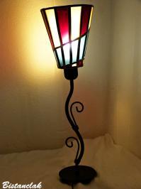Abat-jour vitrail pour pied de lampe