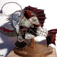 décration lumineuse poisson steampunk