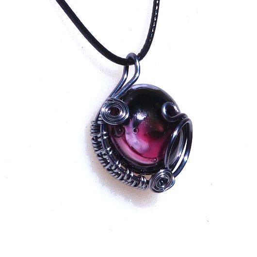 Pt a cabochon rose noir 1