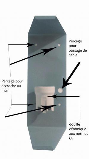 Structure d accroche applique en verre
