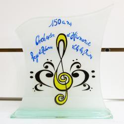 Trophée commémoratif pour les 150 ans de l'orchestre d'harmonie aubenas-vals