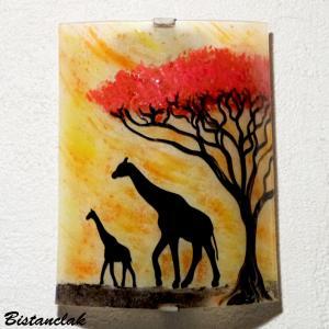 Vente en ligne de l applique artisanale jaune orange motif girafe