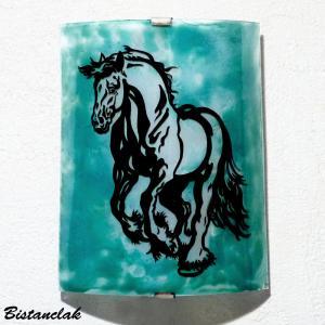 Vente en ligne de l applique d ambiance vert turquoise motif cheval cabre