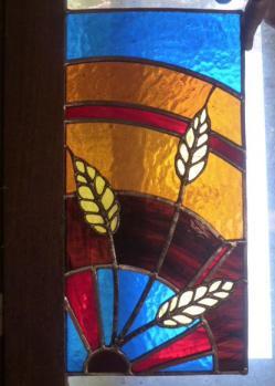 Vitrail motif épi de blé realise sur mesure